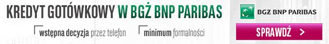 Kredyt gotówkowy BGŻ BNP Paribas
